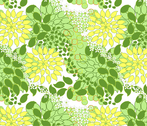Meyer Lemons and Limes Seeds with Meyer Lemon's flower fabric by mariskadesign on Spoonflower - custom fabric