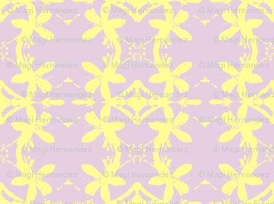 Garlands of Lemon Blossoms on Lavender