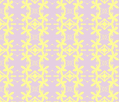 Garlands of Lemon Blossoms on Lavender fabric by walkwithmagistudio on Spoonflower - custom fabric