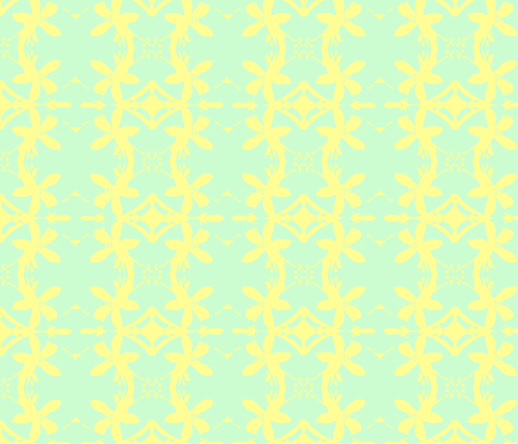 Garlands of Lemon Blossoms Lime fabric by walkwithmagistudio on Spoonflower - custom fabric