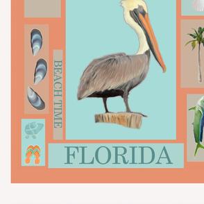 Florida Pelican Motif