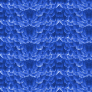 Feather Tile in Blue