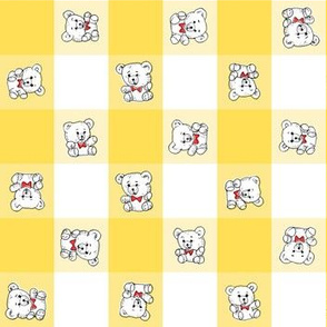 Teddy Bear Gingham | Yellow