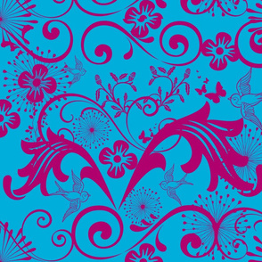 Baroque in Blue and Magenta