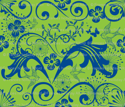 Baroque in Green and Blue