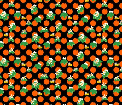 Orange blossom fabric by alexsan on Spoonflower - custom fabric