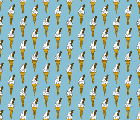 IceCreamConeFabric_copy fabric by lovelyjubbly on Spoonflower - custom fabric