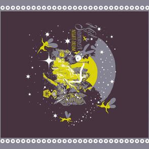 midsummer night's quilt panel