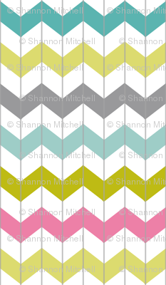 Chevron Juicy Pink