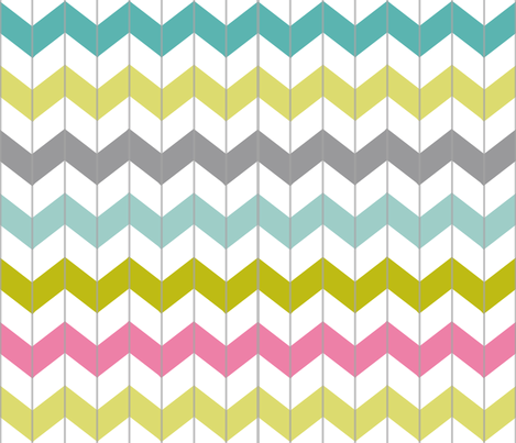 Chevron Juicy Pink fabric by smitche on Spoonflower - custom fabric