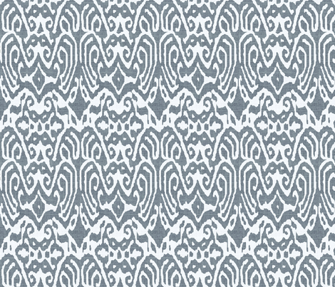 Charcoal Linen Ikat fabric by ragan on Spoonflower - custom fabric