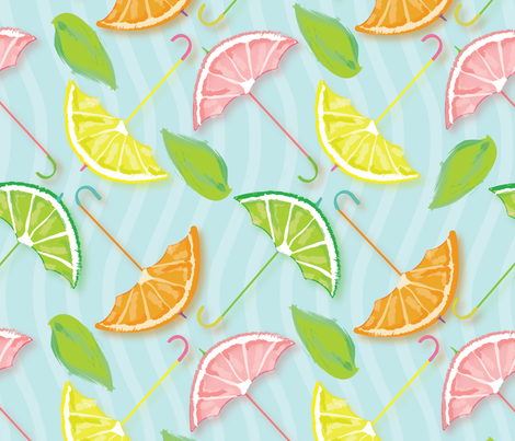 Juicy_Umbrella_Citrus_Slices fabric by tamagrams on Spoonflower - custom fabric