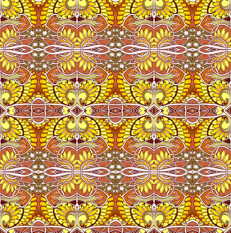 Spread Your Wings in the Sunshine fabric by edsel2084 on Spoonflower - custom fabric