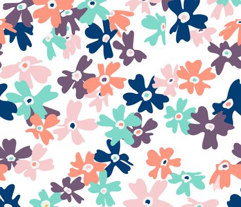 Wild Fowers fabric by pragya_k on Spoonflower - custom fabric