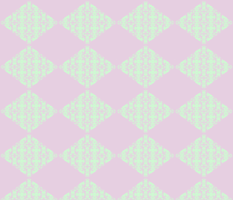 Citrus Diamonds - lime & lavender fabric by walkwithmagistudio on Spoonflower - custom fabric