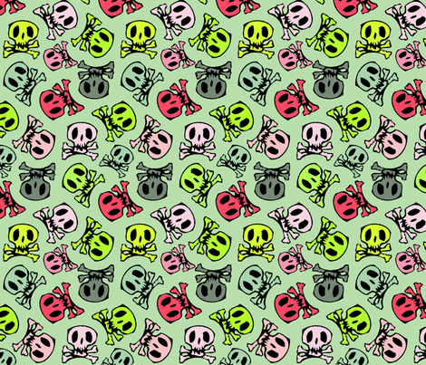 colorful skulls regular fabric by susiprint on Spoonflower - custom fabric