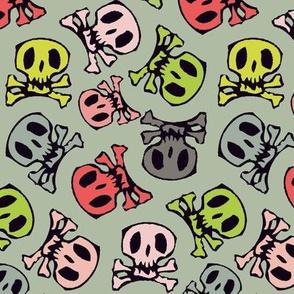 colorful skulls regular