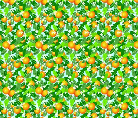 Citrus Abundance 2 fabric by vinpauld on Spoonflower - custom fabric