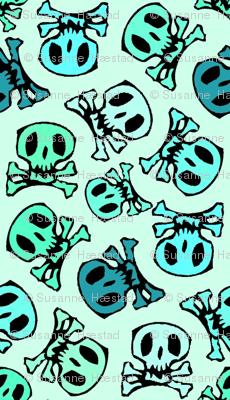 skulls on mint regular