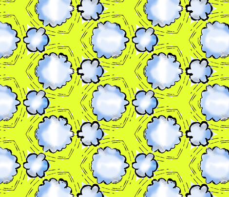 rocksteady smoke clouds fabric by susiprint on Spoonflower - custom fabric