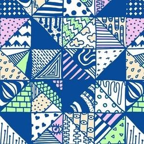 Modern Patch blue