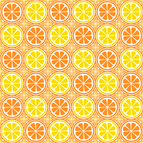 Orange Lemon Citrus fabric by holladaydesigns on Spoonflower - custom fabric