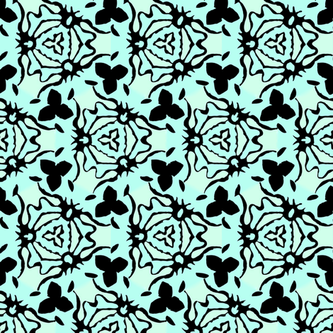 mint and black basic regular fabric by susiprint on Spoonflower - custom fabric