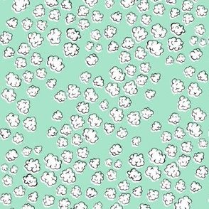 Popcorn Clouds | Aqua Green