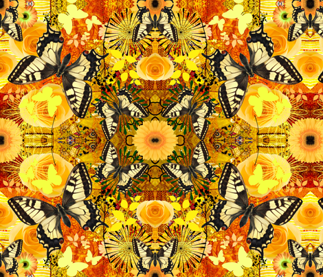 Butterflies in Yellow fabric by frances_hollidayalford on Spoonflower - custom fabric