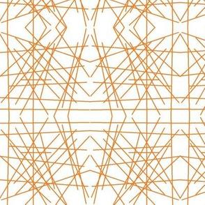 Orange Mirror Abstract