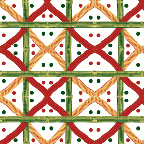 Christmas Ribbons fabric by ravynscache on Spoonflower - custom fabric