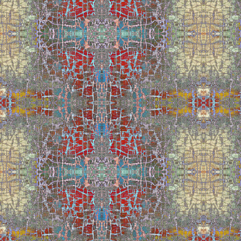 Temple - multi-colored (red, blue, yellow) fabric by materialsgirl on Spoonflower - custom fabric