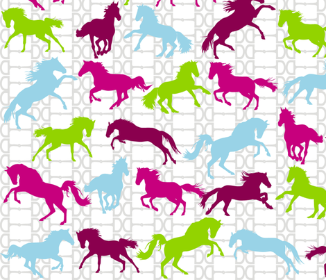 Horse Bits Jellybeans fabric by smuk on Spoonflower - custom fabric