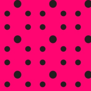 Dot Dot Dot  in Black &Fuchsia