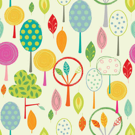 Whimsical Trees fabric by amy_schimler-safford on Spoonflower - custom fabric