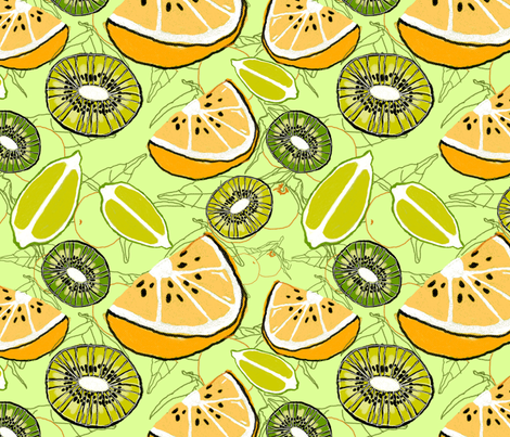 citrus fabric by weejock on Spoonflower - custom fabric