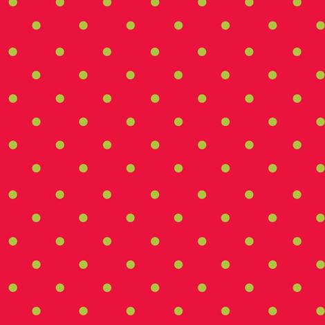 Scarlet Apple Dot fabric by kelly_a on Spoonflower - custom fabric