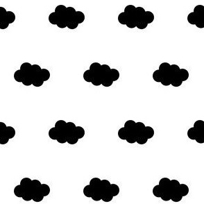 black cloud on white