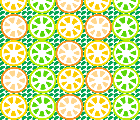 SOOBLOO_CITRUS_FIVE-B-1-01 fabric by soobloo on Spoonflower - custom fabric