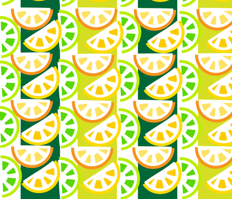 SOOBLOO_CITRUS_TWO-A-1-01 fabric by soobloo on Spoonflower - custom fabric