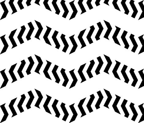 zigzag zebra chevron fabric by weavingmajor on Spoonflower - custom fabric
