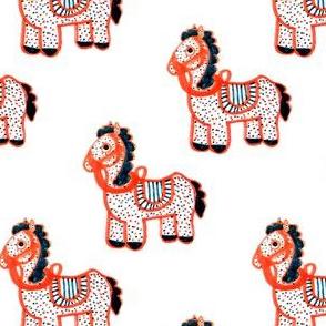 Horse Spotted Orange