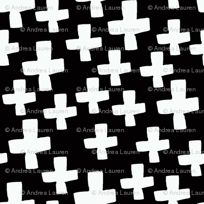 plus // black and white swiss cross baby kids nursery