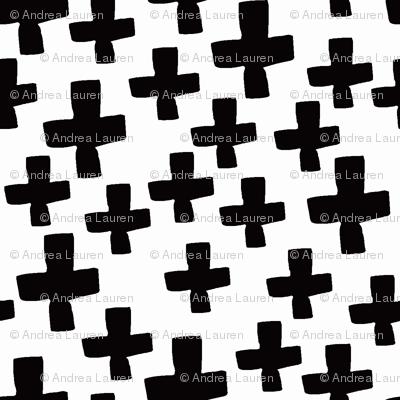 Swiss Cross - B/W