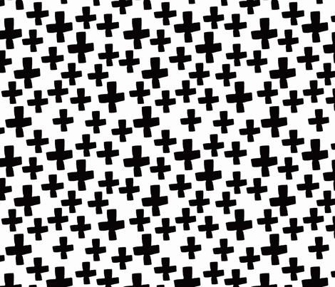 Swiss Cross - B/W fabric by andrea_lauren on Spoonflower - custom fabric