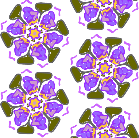 Painted Flowers fabric by ravynscache on Spoonflower - custom fabric