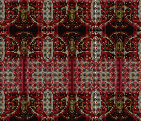 Pomegranate motif fabric by dk_designs on Spoonflower - custom fabric