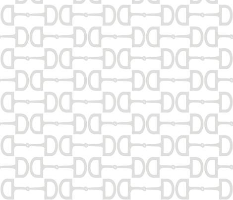 Snaffle Bits GreyLove fabric by pennyroyal on Spoonflower - custom fabric