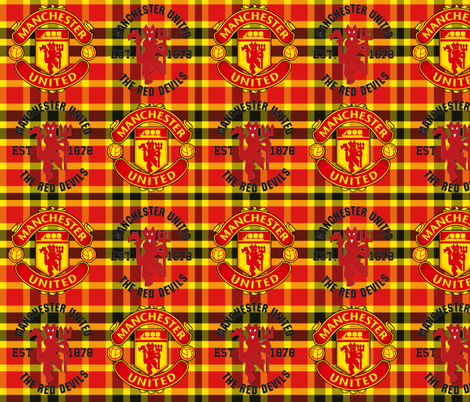Manchester Plaid Crests fabric by mrcampbell1 on Spoonflower - custom fabric