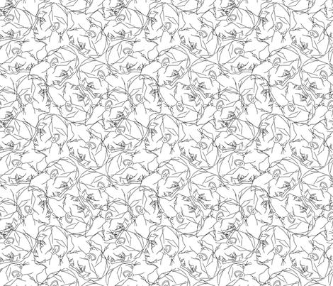 portrait fabric by uramarinka on Spoonflower - custom fabric